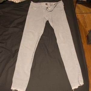 Baby blue American eagle jeggings